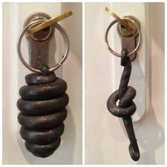 Hand forged knotted and beehive key rings by CreativeLivesDH, £5.00