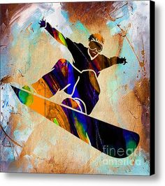 Snowboarder painting canvas print / canvas art by marvin blaine painting in Canvas Art Prints, Framed Art Prints, Painting Canvas, Sports Drawings, Cooler Painting, Surrealism Painting, Sports Art, Snowboarding, Skiing