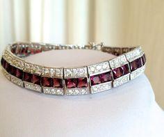 Vintage Sterling Silver 3 Row Estate Jewelry Bracelet by WOWTHATSBEAUTIFUL
