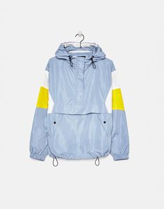 Jacket with pouch pocket - Bershka #fashion #product #trend #trendy #girl #girly #jacket #pocket #blue #yellow