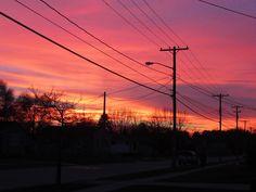 Lightpole ... :)  ... I mean, sunset