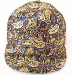 17c043fdb6ecd0 GP Accessories Paisley Floral Hat Short Brim Trucker Cap Large Yellow Blue  at Amazon Men s Clothing store  Sporting Goods