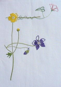Field flowers alphabet - F | The French Needle | French Needlework Kits, Cross Stitch, Embroidery, Sophie Digard