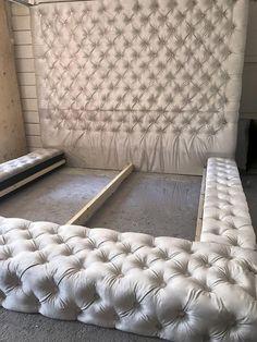 Velvet Diamond Tufted Oversized King Bed Etsy is part of Beautiful bedrooms master - Luxury Bedroom Design, Bedroom Bed Design, Room Decor Bedroom, Home Bedroom, Tufted Bed Frame, Tuffed Bed, King Size Bed Frame, King Size Beds, Diy Bett