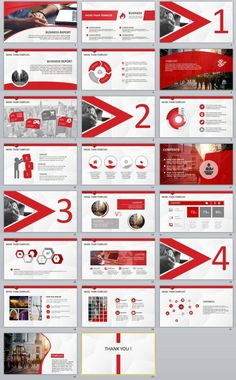 23+ Red Business Report Powerpoint Templates   The highest quality PowerPoint Templates and Keynote Templates download
