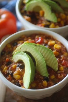 Crockpot Mexican Tortilla Quinoa Soup