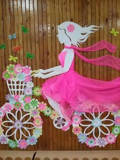 Idées Inspiration fête de mère 2019 Image Description Оформление ЗАЛА и СЦЕНЫ Diy Home Crafts, Diy Arts And Crafts, Crafts For Kids, Paper Crafts, Board Decoration, School Decorations, Wall Decorations, Kids Room Art, Mothers Day Crafts