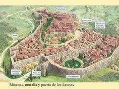 Reconstrucción de la ciudad de Micenas.