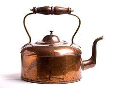 Antique Copper Tea Kettle by jpants4sale on Etsy, $40.00