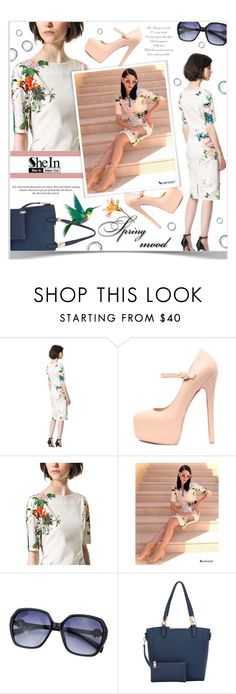 """""""Spring Dress"""" by chathurika-gamage ❤ liked on Polyvore featuring H&M"""