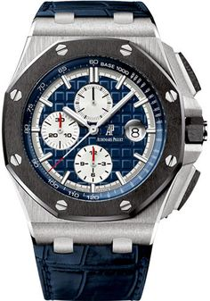 Buy Audemars Piguet Royal Oak Offshore Chronograph 44mm Platinum Watches, 100% authentic at discount prices. Complete selection of Luxury Brands. All current Audemars Piguet styles available. Royal Oak, Jules Audemars...