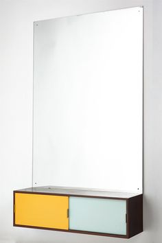 Small sideboard with mirror, anonymous. Denmark. 1960's.