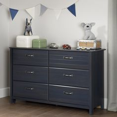 South Shore Ulysses Blueberry 6-drawer Double Dresser | Overstock.com Shopping - The Best Deals on Kids' Dressers