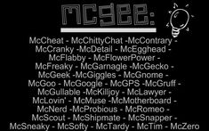 mcgee's nicknames by ~Jess-loves-ncis on deviantART