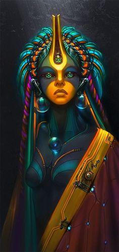 AI Priestess -Amazing Digital Art by Wen-jr