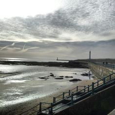 Seaburn and roker beach. View of the pier and lighthouse from the beach #sunderland #uk #england