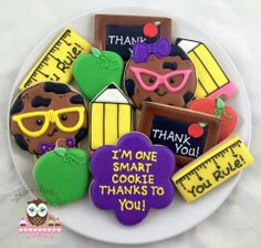 Smart cookie teacher appreciation cookies