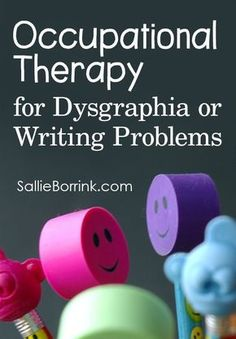 Occupational Therapy for Dysgraphia or Writing Problems Do you have a child who struggles with the physical act of writing? We did and occupational therapy changed her life! Occupational Therapy Activities, Occupational Therapist, Speech Therapy, Hand Therapy, Physical Activities, Visual Motor Activities, Ot Therapy, Therapy Ideas, Pre Writing