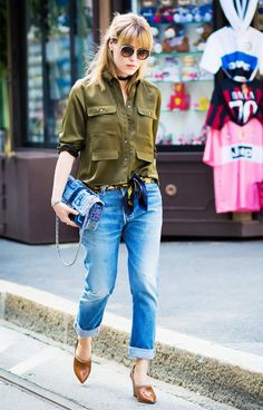 MODA - MILITAR - Juliana Parisi - Blog Looks Com Calça Jeans, Roupas Jeans, 6b2ed39639