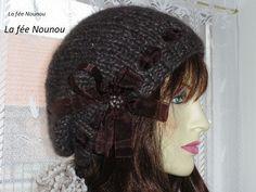 0f4ebfc00781 Béret Femme Tricot, Tuto Tricot Femme, Bonnet Tombant, Femme Gratuit, Bonnet  Tricot