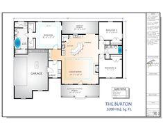 Craftsman House Plan The Burton image 1 House Plans With Photos, New House Plans, Dream House Plans, House Floor Plans, Dream Houses, Custom Floor Plans, Burton, Electrical Plan, Minimalist Home