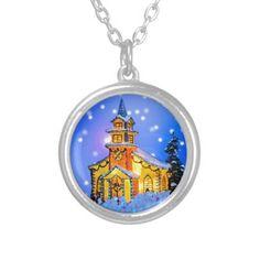 Christmas Night Jewelry #Christmas #Church #Necklace #Pendant