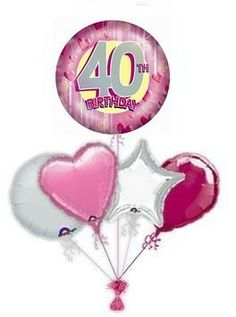 """Send a balloon to mark their special birthday with a fabulous """"In The Pink"""" happy birthday balloon 60th Birthday Balloons, 40th Birthday, Balloon Delivery, A Day To Remember, Pink, Silver, 40 Birthday, Pink Hair, Roses"""