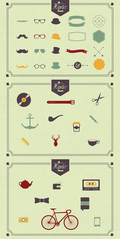 The Hipster Pack: 43 Vector Graphics for Members