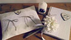 La casa di Gaia: Cuscino porta fedi e guestbook per Veronica e Simone