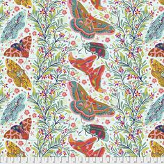 Hindsight Sinister Gathering Spring Fabric by Anna Maria Horner - Free Spirit Fabrics Amy Butler, Rifle Paper, Endless Summer, Anna Maria Horner, Free Spirit Fabrics, Hindsight, Anna Marias, Cotton Quilting Fabric, Quilt Kits