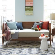 SALE $699 (plus they assemble it) Mid-Century Daybed - Acorn | West Elm  Could be nice in the office.