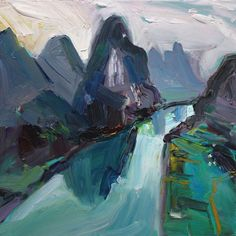 Richard Claremont #Art - Bend in the Yangtze - Seascape #Oil #Paintings for Sale