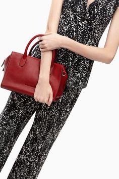 Lilly Leather Shoulder Bag - dash of red | Adolfo Dominguez shop online