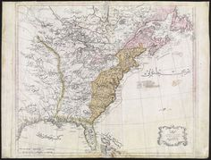 First Ottoman map of the US (1803)