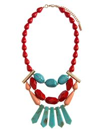 Mixed Beaded Tiered Necklace Set