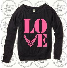 LOVEANDWARCLOTHING - L.O.V.E. Stencil Air Force long sleeve slouch top, $34.95 (http://www.loveandwarclothing.com/copy-of-l-o-v-e-stencil-air-force-long-sleeve-slouch-top/)