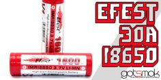 You might have heard the rumors. Well, the rumors are now a reality. The Efest 30A 18650 IMR battery have just hit the web. And, it seems like 101 is the first vendor to have them in stock and ready to ship. Better yet... http://gotsmok.com