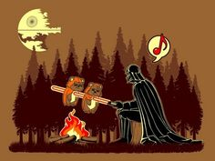 Bitacora Legionaria has posted this funny picture of Darth Vader cooking Ewoks on a stick (actually its a lightsaber). I love Star Wars humor (or any kind of sci-fi humor for that matter)! Darth Vader, Star Wars Darth, Star Trek, Star Wars Film, Ewok, Chewbacca, Star Wars Wallpaper, Hd Wallpaper, Wallpapers