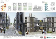 5° Lugar no concurso para Moradia Estudantil da Unifesp Osasco,Prancha 3. Image Cortesia de Bacco Arquitetos Associados