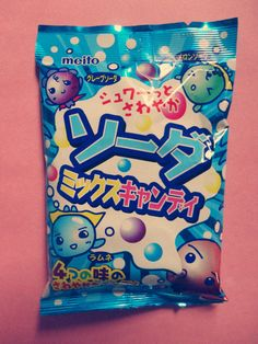 Japanese candy meito soda fizzy  once you pop them into your mouth, you can taste sourness.