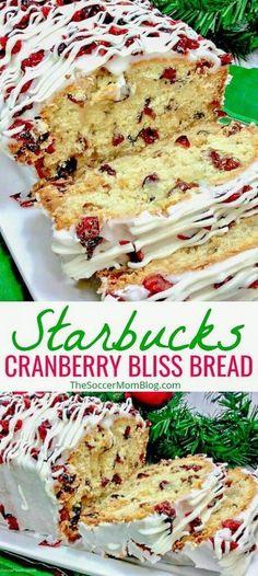 Christmas Bread, Christmas Cooking, Christmas Breakfast, Holiday Bread, Cranberry Bread, Cranberry Recipes, Holiday Desserts, Holiday Baking, Breakfast Recipes
