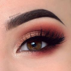 """Close-up of my previous post purple_hearteyes Products used: @anastasiabeverlyhills dipbrow pomade in medium brown for the eyebrows @sweetheartlashes in the style """"charlotte"""" @makeuprevolution New-Trals vs Neutrals palette ( shades: """"mode"""" on the lid 