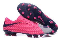 new product 3ba1a 2ff1f Nike Hypervenom Phelon III FG TPU Pink Gray