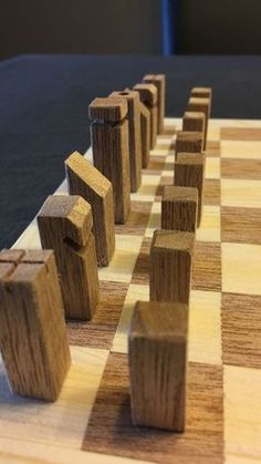 For my next project I decided to make a chess set from wood. I have seen many examples on Instructables.I used Meranti for the dark pieces and Pinewood for the other...
