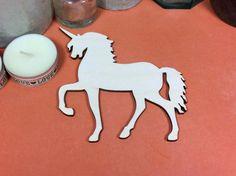 Unicorn 10cm - Wooden Unicorn Shape x 3