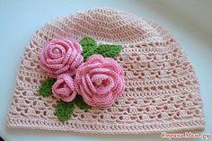 Cappellino bimba 1 con rose