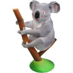 Koala,Tiere,Papiermodelle,Asien / Ozeanien,Australien,grau,Säugetiere,Beuteltiere,Tiere,Papiermodelle