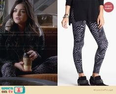 Aria's quilted leather jacket with fleece collar on Pretty Little Liars.  Outfit Details: http://wornontv.net/28495/ #PLL