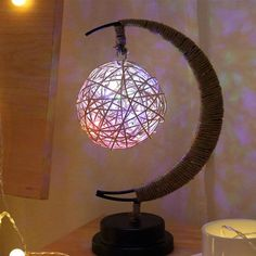 The Half-Moon Fairy Light Lamp is a unique gift for those who appreciate ambient lighting. Find moon light lamp at Apollo Box! Led Star Lights, Led Fairy Lights, Led String Lights, Fairy Lanterns, Battery Lights, Moon Light Lamp, Light Bulb, Fairy Lamp, Led Night Light