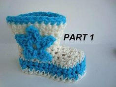 these boots are too cute...baby cowboy boots size 3-6 months, crochet video instructions Part 1